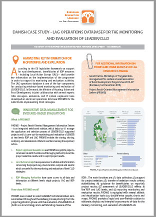 Danish Case Study - LAG Operations Database for the monitoring and evaluation of LEAder/clld